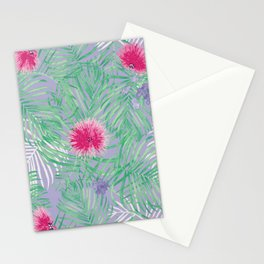 Calliandra Palms in Violet Stationery Cards