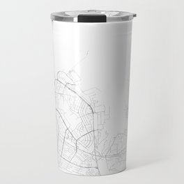 Reykjavik, Iceland Minimalist Map Travel Mug