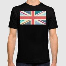 UK Beauty flag Mens Fitted Tee MEDIUM Black
