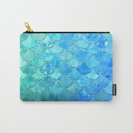 Summer Dream Colorful Trendy Mermaid Scales Carry-All Pouch