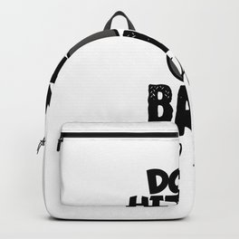 Billiard Dont hit the ball to early black Backpack