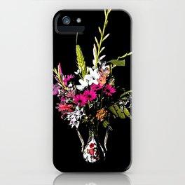 Half Tone Florals iPhone Case