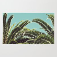 palms Area & Throw Rugs featuring Palms by Lawson Images