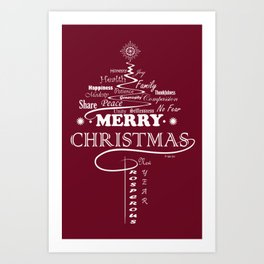 The Wishing Christmas Tree Art Print