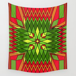 Poinsettia Flower Wall Tapestry