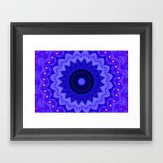 Lovely Healing Mandala  in Brilliant Colors: Black, Purple, and Blue Framed Art Print