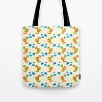 dino Tote Bags featuring Dino by Elettra