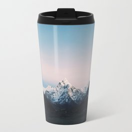 Blue & Pink Himalaya Mountains Travel Mug