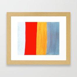 Banded Framed Art Print