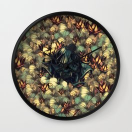 The skull, the flowers and the Snail Warm Wall Clock