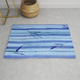 stripes blue rondo Rug