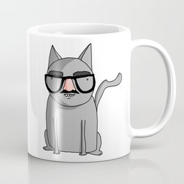 Cat with Groucho Glasses Coffee Mug