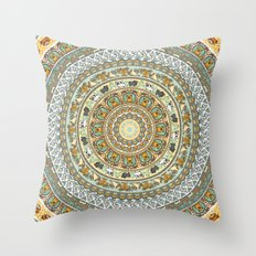 Pug Yoga Medallion Throw Pillow