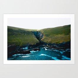 Cornish Cliff Art Print