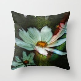 Grunge Daisies Throw Pillow