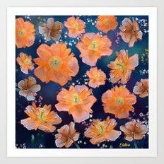 Poppies in Space Art Print