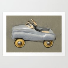 Antique Pedal Car Art Print