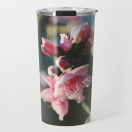 Peach tree in bloom Travel Mug