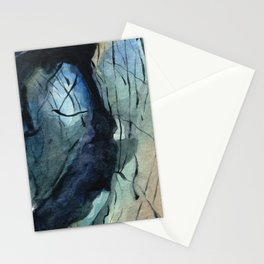 Labradorite Crystal Watercolor Stationery Cards