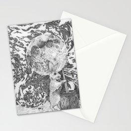 Moon Rabbit Stationery Cards