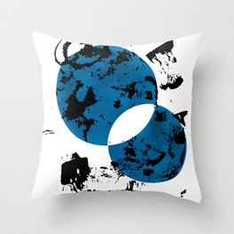 Blue & Black Throw Pillow