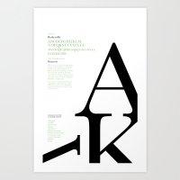 Baskerville Typography Poster Art Print