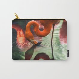 Tropical Flamingo Kiss Carry-All Pouch