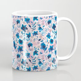 Flow pattern with hand painted watercolor flowers Coffee Mug