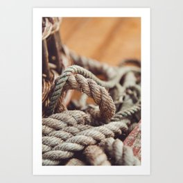 Tangled & Worn Art Print