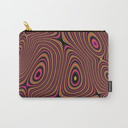BUSBY fuschia pink concentric circles abstract pattern Carry-All Pouch