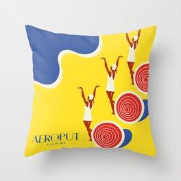 """EX-JU poster """"AEROPUT"""" Throw Pillow"""