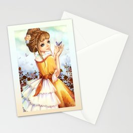 Summer-girl Stationery Cards