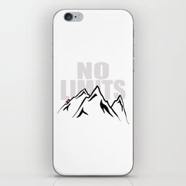 Jeep climb - No limits (Red) iPhone Skin