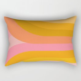 Retro Rainbow 89 Rectangular Pillow