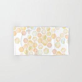 Bee and honeycomb watercolor Hand & Bath Towel