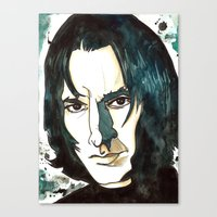 snape Canvas Prints featuring Professer Snape by Boni Dutch