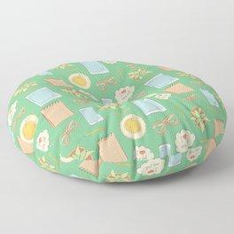 I love my job colorful illustration Floor Pillow