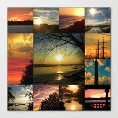 Sun collage Canvas Print