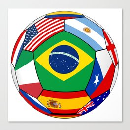 Ball With Various Flags Canvas Print