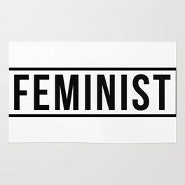 Feminist White Rug