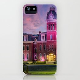 WVU Woodburn Hall at Sunset iPhone Case