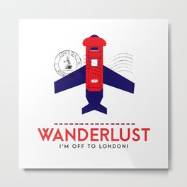 Royal Travel - London Wanderlust Metal Print