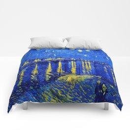 Starry Night Over Rhone Comforters