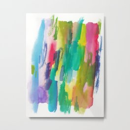 180812 Abstract Watercolour Expressionism 5| Colorful Abstract | Modern Watercolor Art Metal Print
