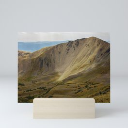 View of the Sangre de Cristo mountain range in the Rocky Mountains as seen from Wheeler Peak, the highest point in New Mexico, in Taos, New Mexico, USA Mini Art Print