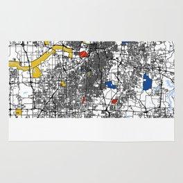 Kansas city mondrian map Rug