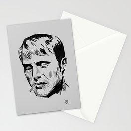 Smoking - Mads Mikkelsen Stationery Cards