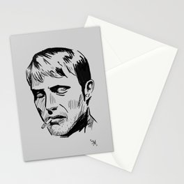 Smoking - Mads Mikkelsen Stationery Cards