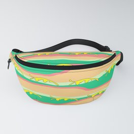 CONTEMPORARY YELLOW FLOATING LEAVES Fanny Pack