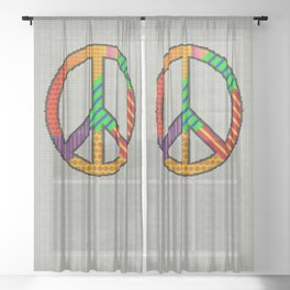 Knitting Peace Sheer Curtain